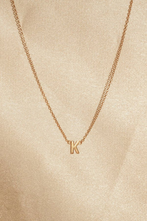 Gold filled initial necklace