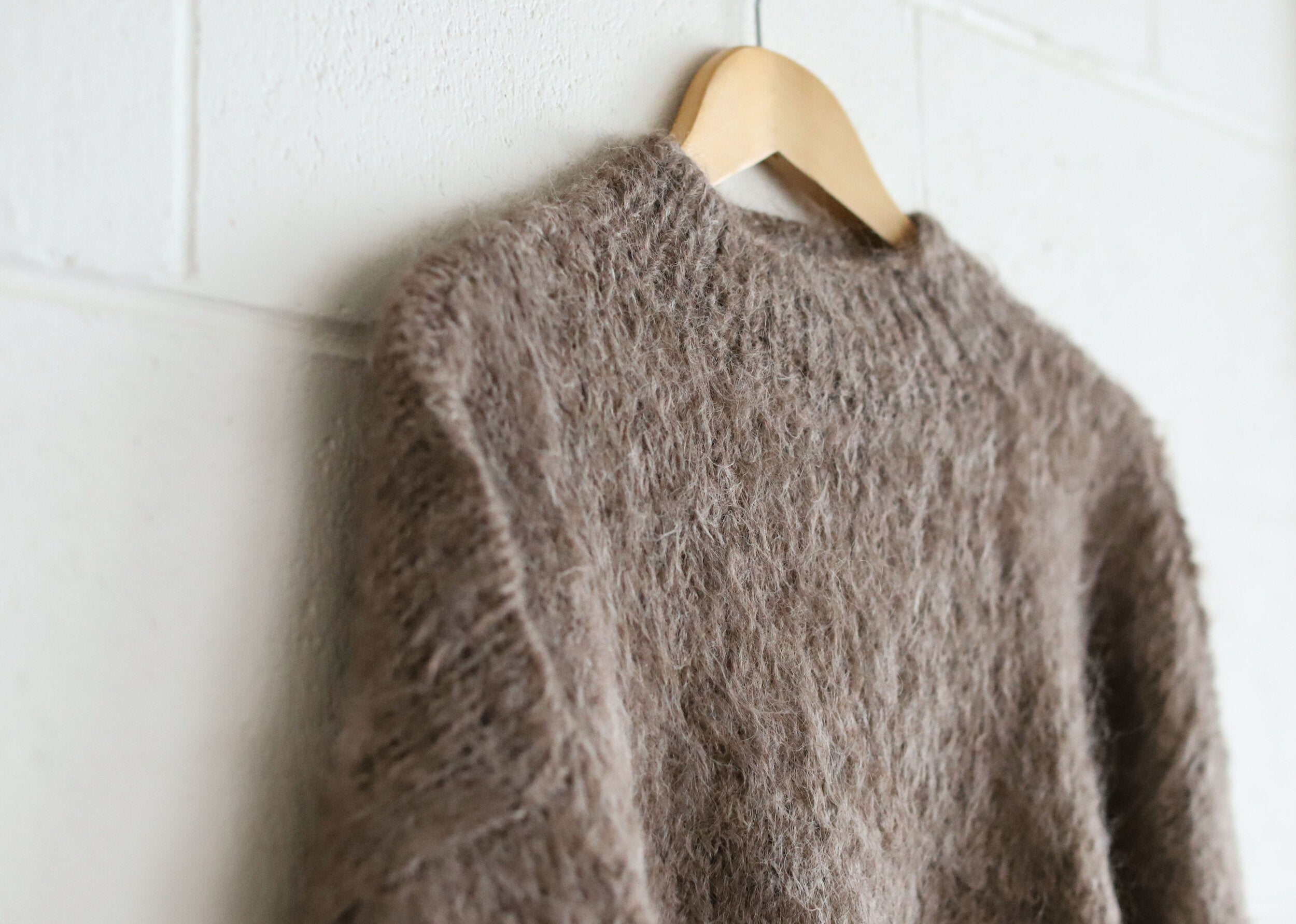 Kusi wool jumper Taupe