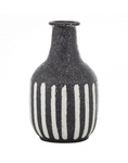Abena Ceramic Vase / Vessel Large Black and White