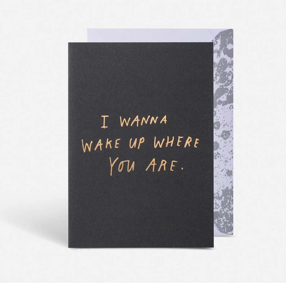 Wake up where you are card