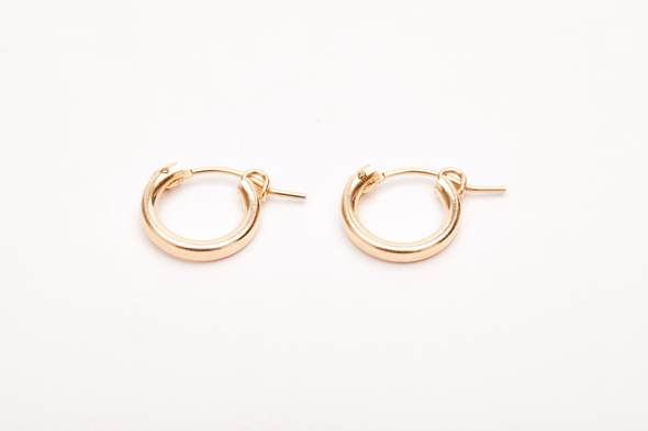 Gold filled small hoops