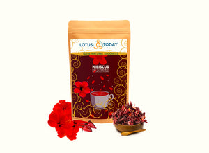 Hibiscus Tea| Herbal Tea| Dried Hibiscus Flower Tea| 21 tea bags