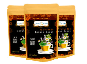 Lotus Today Immune Boost tea, Ayurvedic Herbal tea Blend to Support Immune system, 21 Immunity Tea bags