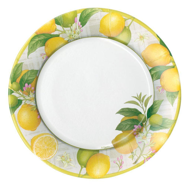 Citron Paper Dinner Plates - 8 Per Package