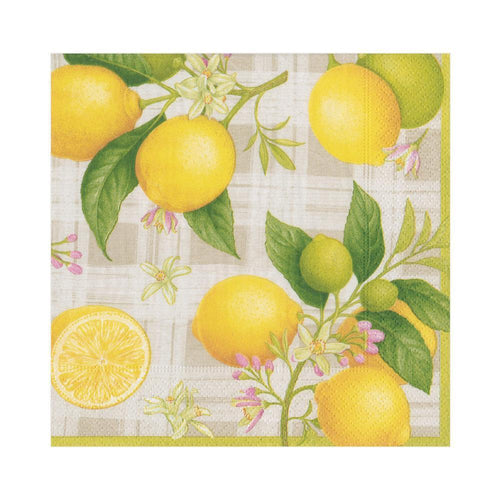 Citron Paper Luncheon Napkins - 20 Per Package