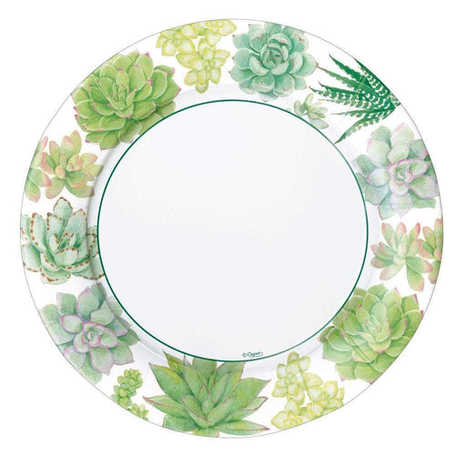 Succulents Paper Dinner Plates - 8 Per Package