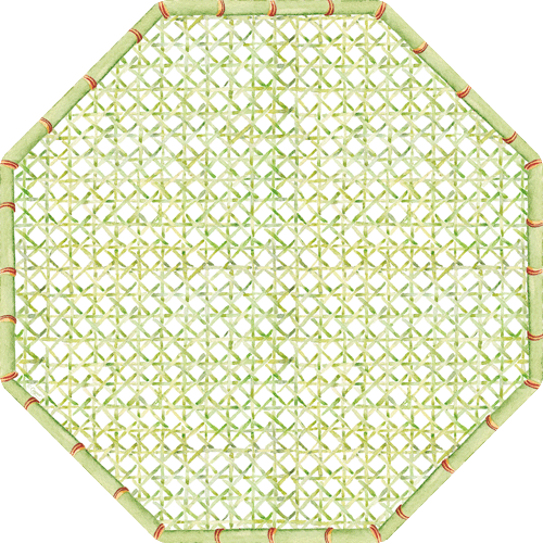 Holly Trellis Die-Cut Placemat - 1 Per Package