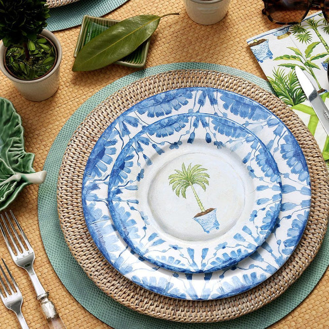 Potted Palms China Paper Dinner Plates - 8 Per Package