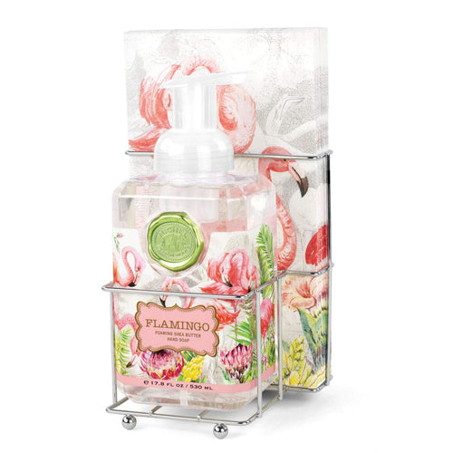 Flamingo Foaming Soap Napkin Set