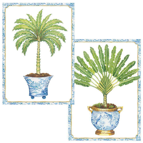 Potted Palms Boxed Note Cards - 8 Note Cards & 8 Envelopes
