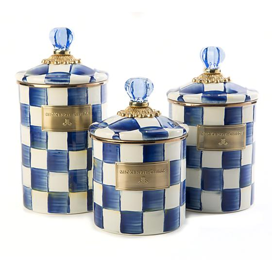 Royal Check Canister - Small