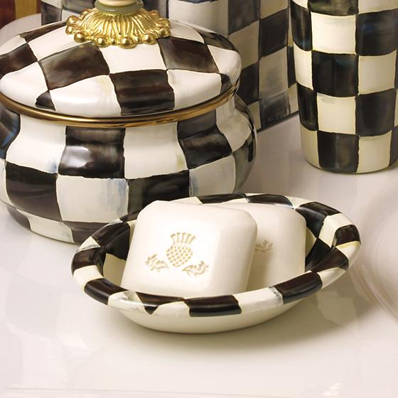 Courtly Check Enamel Soap Dish
