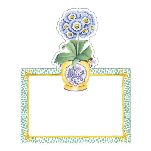 Primroses Die-Cut Place Cards - 8 Per Package