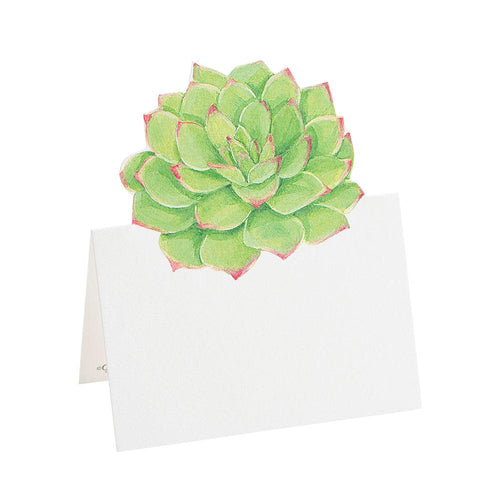 Succulents Die-Cut Place Cards - 8 Per Package