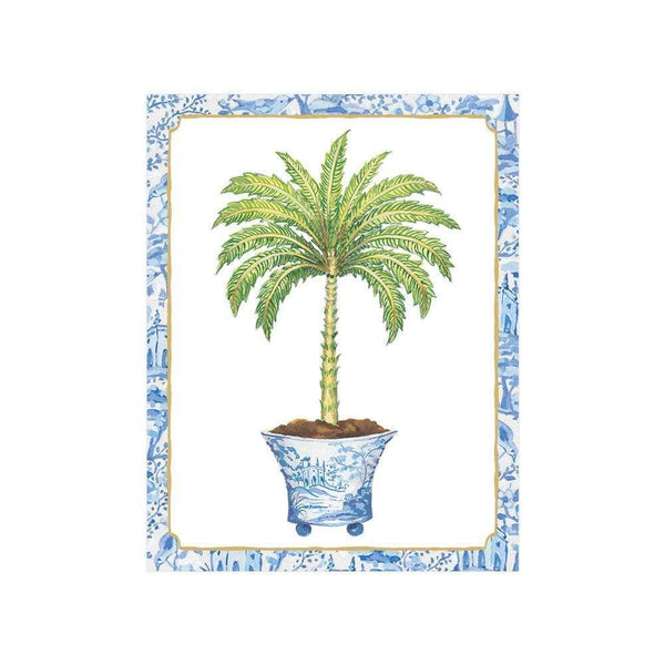 Potted Palms Gift Enclosure Cards - 4 Mini Cards & 4 Envelopes