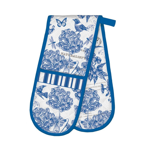 Indigo Cotton Double Oven Glove