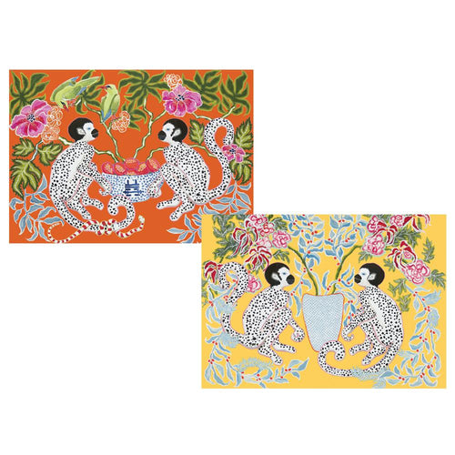 Monkeys Boxed Note Cards - 8 Note Cards & 8 Envelopes
