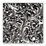 Black Florentine Luncheon Napkins