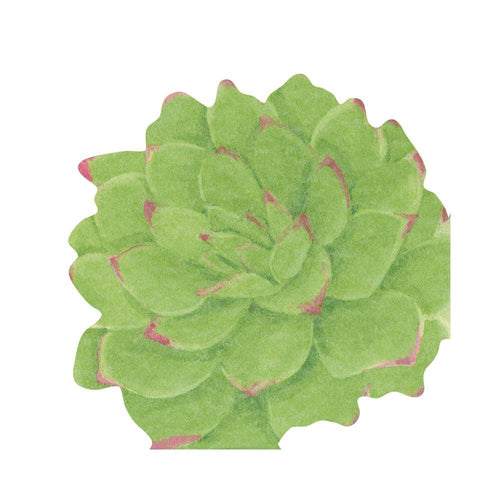 Succulents Die-Cut Paper Linen Party Napkins - 15 Per Package