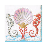 Seahorses and Shell Paper Luncheon Napkins - 20 Per Package