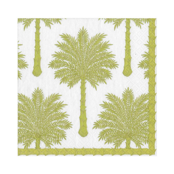 Grand Palms Paper Luncheon Napkins in Green - 20 Per Package