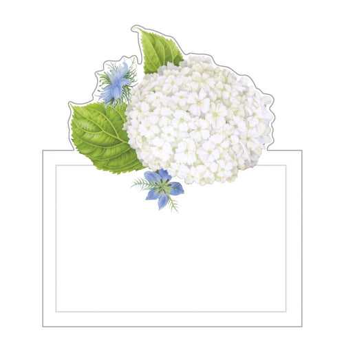 White Blooms Die-Cut Place Cards - 8 Per Package