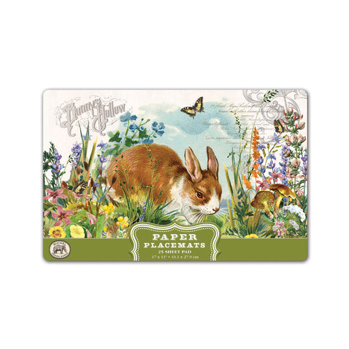Bunny Hollow Paper Placemats