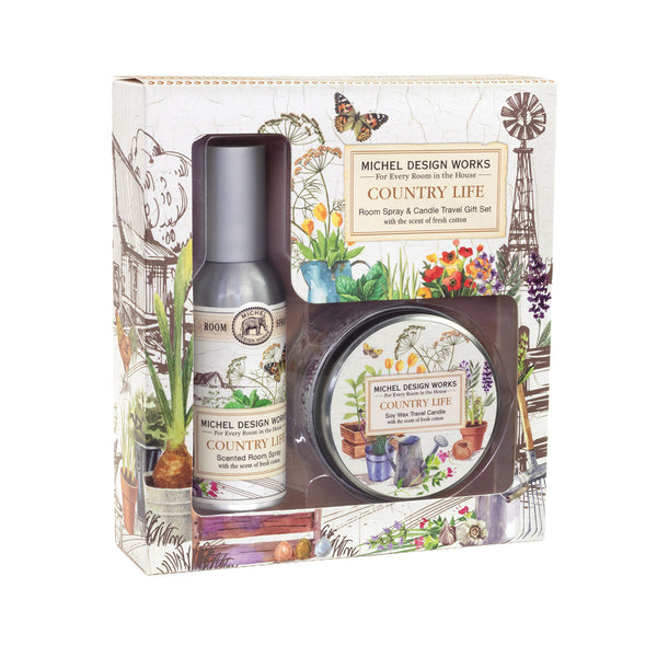 Country Life Room Spray and Candle Travel Gift Sets