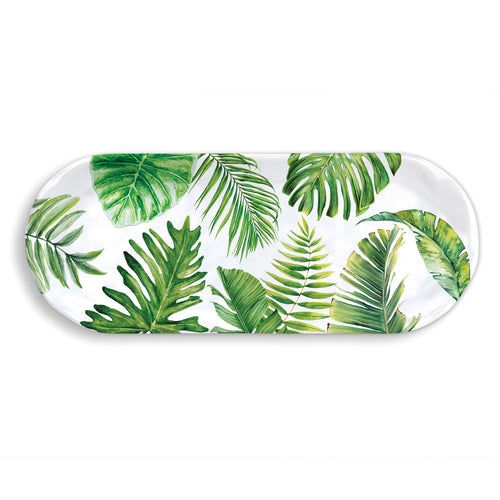Flamingo Palm Melamine Serveware Accent Tray