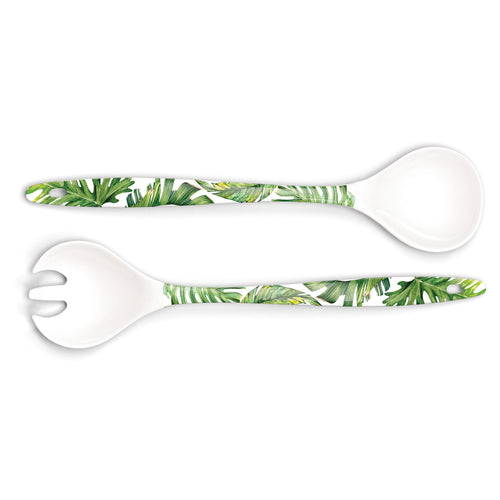 Flamingo Palm Melamine Serveware Serving Set