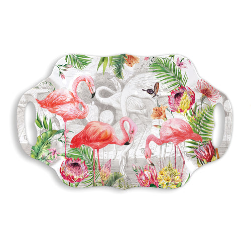 Flamingo Melamine Serveware Serving Tray