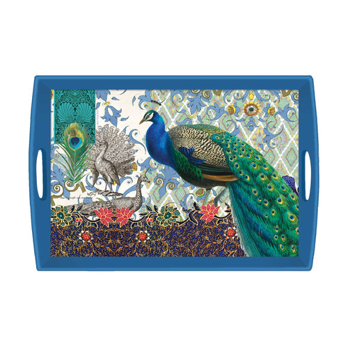 Peacock Wooden Tray