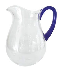 Acrylic Pitcher in Clear with Blue Handle - 1 Each