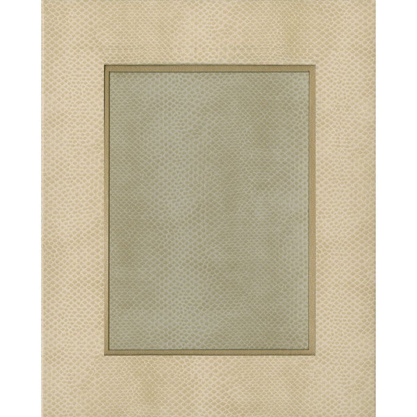 "Snakeskin 5"" x 7"" Picture Frame in Ivory - 1 Each"