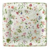 English Country Garden Square Paper Dinner Plates - 8 Per Package