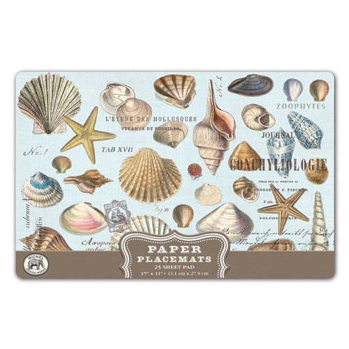 Seashells Paper Placemats