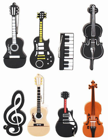 Musical Instruments Flash Drive 2.0: 4GB, 8GB, 16GB, 32GB or 64GB