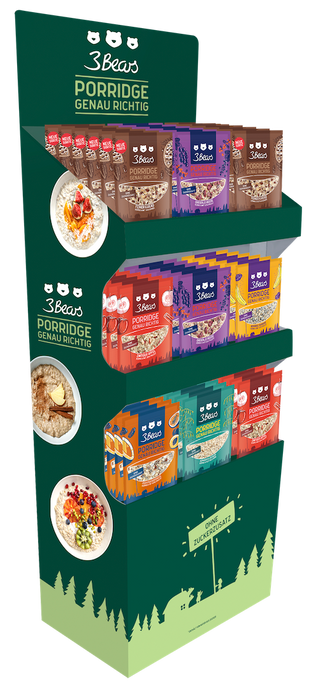 3Bears Porridge Display 400gx54 - Vorgepackt (LP)