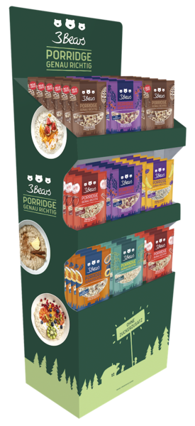 3Bears Porridge Display - 400gx54 Seperate (LP)