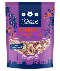 3Bears Porridge Dreierlei Beere 400g VE6 (LP)
