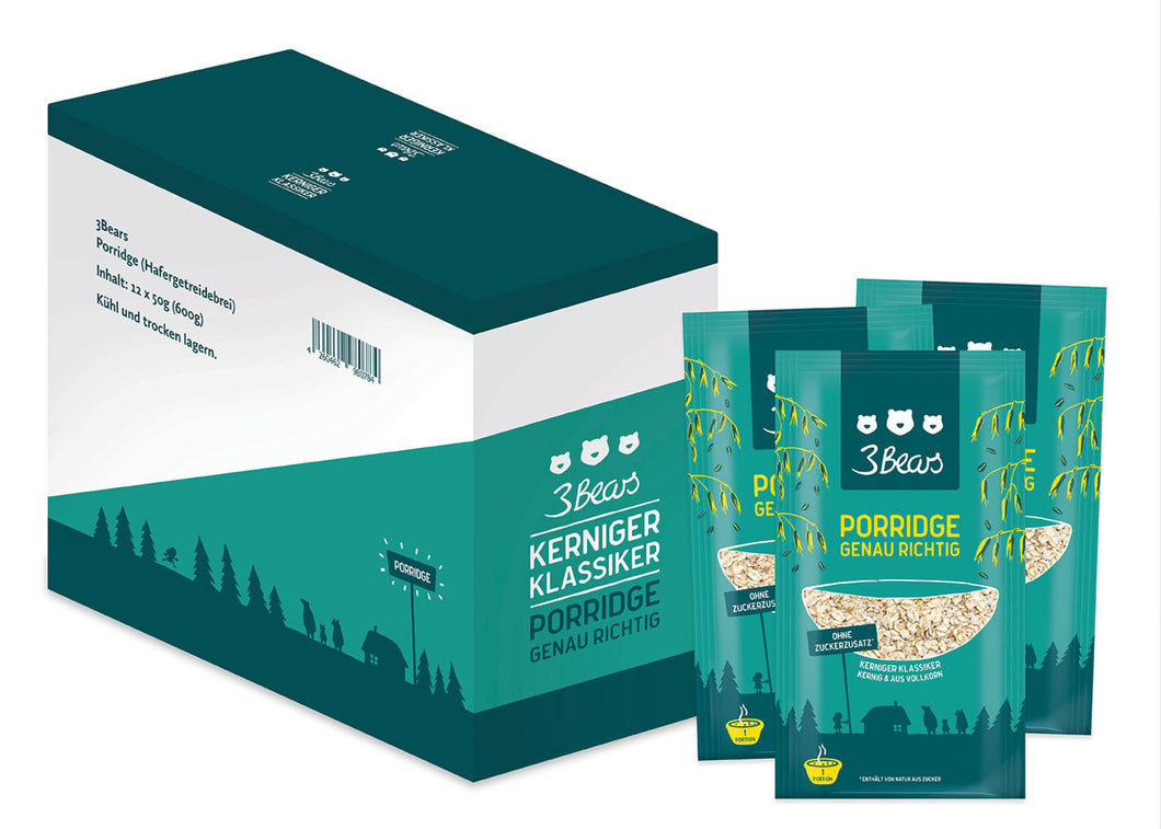 3Bears Porridge Kerniger Klassiker 50g VE12