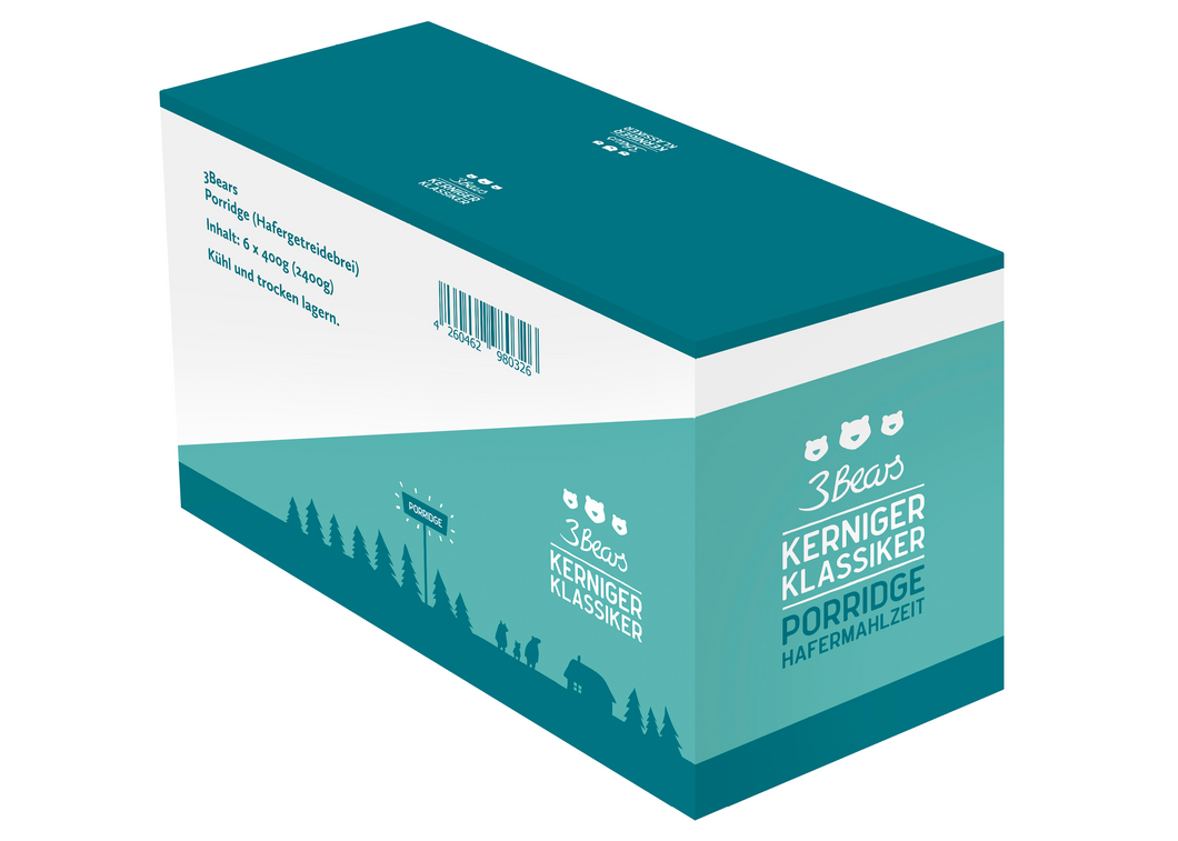 3Bears Porridge Kerniger Klassiker 400g VE6 (D-LP)