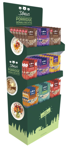 3Bears Porridge Display 400gx54 - Vorgepackt