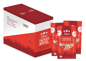 3Bears Porridge Zimtiger Apfel 50g VE12 (D-LP)
