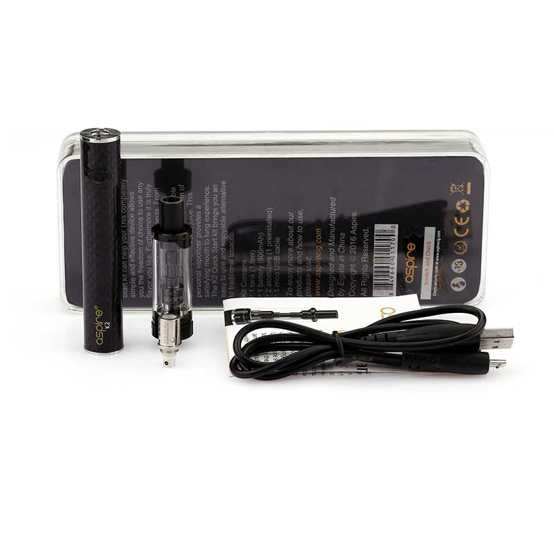 Aspire K2 Quick Starter Kit - 1.8ml & 800mah, Starter Kit, VapeBeta, Australia