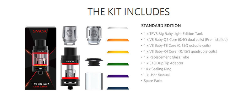 SMOK TFV8 Big Baby Light Edition Tank 5ml, Tanks, VapeBeta, Australia