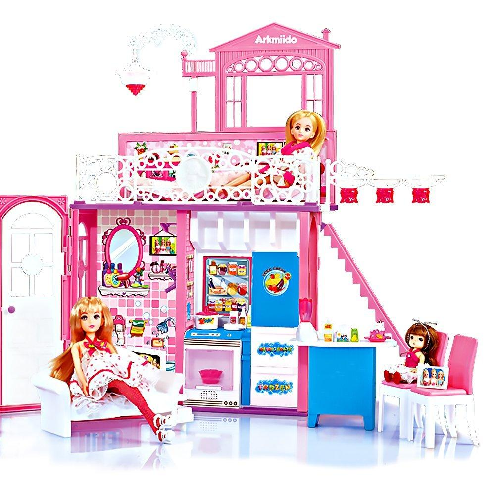Barbie House And Doll Set Playhouse Playset Kids Toy Girls Gift