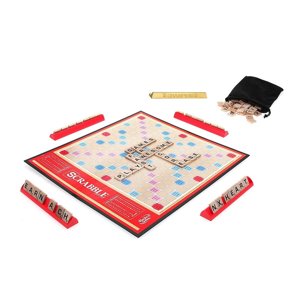 Tile Lock Scrabble Board Game Crossword Puzzle Challenge Words Clever Play  Set