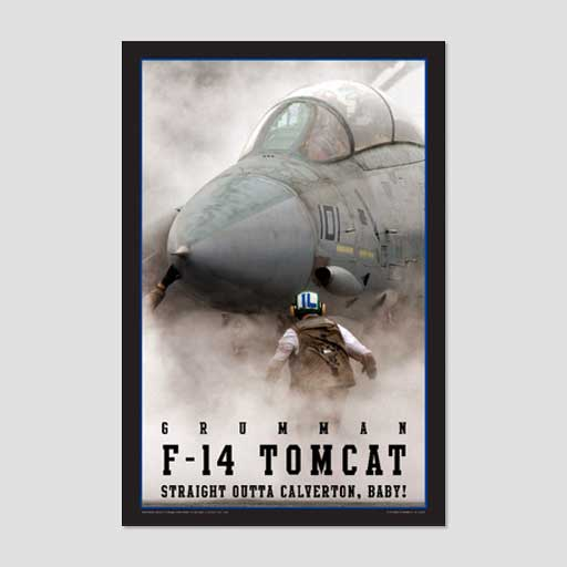 F-14 Straight Out of Calverton, Baby! Poster