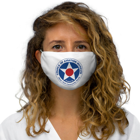 Snug-Fit Polyester Face Mask - Cradle of Aviation Museum Logo Merch